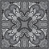 Серый орнаментальный флористический пестрый платок Пейсли Стоковая Фотография