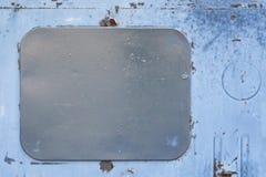 серый прямоугольник Пакостная голубая краска Темная крышка стоковая фотография rf