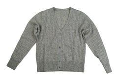 Серый пуловер, изолят Стоковое Фото