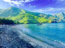 Серый пляж Стоковые Фотографии RF