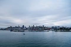 Серый рассвет Сан-Франциско Стоковое Изображение