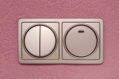 Серый свет переключателя Стоковое фото RF