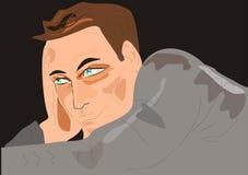 серый свитер человека Стоковая Фотография