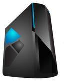 Серый сервер с голубым светом приведенным Стоковые Изображения