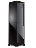 Серый сервер с голубым светом приведенным Стоковые Изображения RF