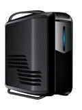 Серый сервер с голубым светом приведенным Стоковые Фотографии RF