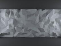 Серый фон треугольников Стоковые Изображения RF