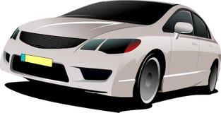 Серый хэтчбек автомобиля на дороге иллюстрация штока
