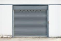 Серый цвет двери штарки Стоковое фото RF