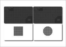 серый цвет визитной карточки Стоковая Фотография