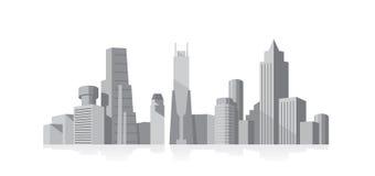 серый цвет городского пейзажа Стоковые Изображения RF