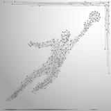 Серый цвет голкипера поли Стоковая Фотография