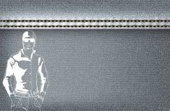 Серый цвет джинсовой ткани предпосылки Стоковое Изображение