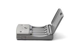 серый цвет заряжателя батареи Стоковое фото RF