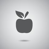 Серый цвет знака Яблока Стоковые Фотографии RF