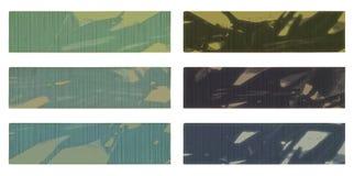 серый цвет знамени голубой изолировал тоны текстурированные комплектом Стоковые Изображения RF