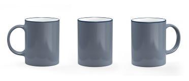 Серый цвет и белизна кружки кофе Модель-макет кружки пустой Стоковое Фото