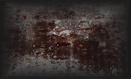 Серый цвет и коричневая затеняемая предпосылка grunge текстурированная стеной стоковое изображение