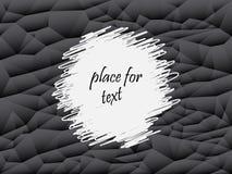 Серый цвет и черная абстрактная предпосылка полигона Текстура вектора геометрическая, установила треугольников E бесплатная иллюстрация