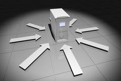 серый цвет компьютера стрелок Стоковое Фото