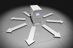 серый цвет компьютера стрелок Стоковая Фотография RF