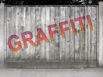 серый цвет надписи на стенах загородки Стоковая Фотография RF