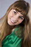серый цвет над женщинами молодыми Стоковые Фото