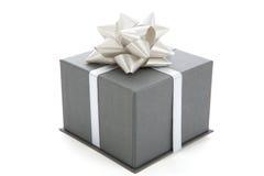 серый цвет подарка Стоковое фото RF