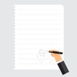 Серый цвет примечания бумажного блокнота дела вектора белый Стоковое фото RF