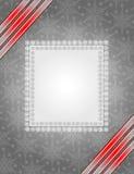 серый цвет рамки рождества иллюстрация штока