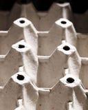 Серый цвет рециркулирует сформированный бумажный поднос яичка картона Стоковые Фото
