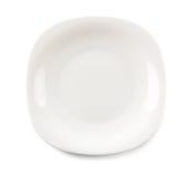 серый цвет тарелки пустой Стоковые Фото
