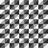 Серый цвет треугольника полигона вектора картины безшовный Стоковое Фото
