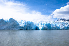 Серый цвет Lago - серый ледник - Чили Стоковые Фотографии RF
