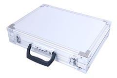 серый чемодан металла стоковое изображение