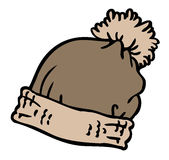 Серый шарж шляпы зимы Иллюстрация штока