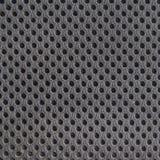 Серый breathable пористый poriferous материал для вентиляции воздуха с отверстиями стоковые фотографии rf