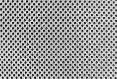 Серый breathable пористый poriferous материал для вентиляции воздуха с отверстиями Черная белая текстура нейлона Sportswear стоковые фотографии rf