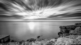 Серый seascape Стоковая Фотография