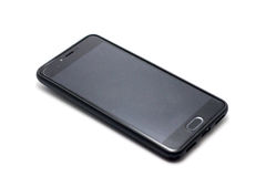Серый smartphone на белой предпосылке Стоковое фото RF