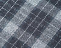 Серым проверенная scottish предпосылка текстуры ткани шерстей Стоковые Фотографии RF