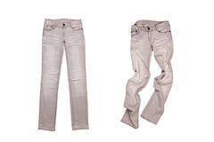 2 серых джинса Стоковые Изображения RF