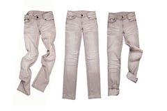 3 серых джинса Стоковые Изображения