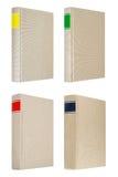 4 серых книги изолированной на белой предпосылке Стоковые Изображения RF