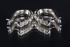 Серьга с диамантами Стоковые Фото