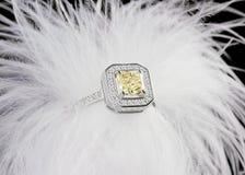 Серьги золота с диамантами Стоковое Фото