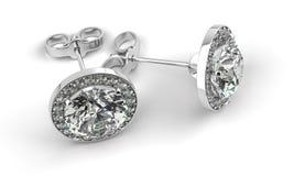 Серьги диаманта Стоковое Изображение