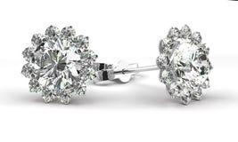 Серьги диаманта Стоковые Фотографии RF