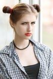 Серьезная девушка Стоковые Изображения RF