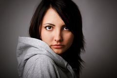 серьезная женщина Стоковая Фотография